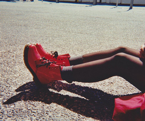 shoes, red, and legs image
