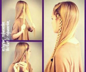 braid, diy, and hair image