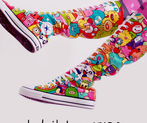 cartoon, colorful, and converse image