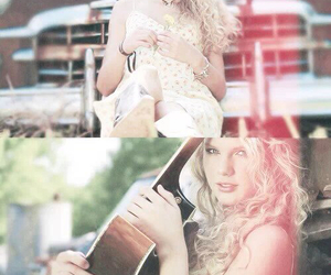 beauty, blonde, and guitar image