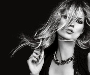 kate moss, fashion, and black and white image
