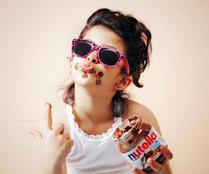 nutella, chocolate, and selena gomez image