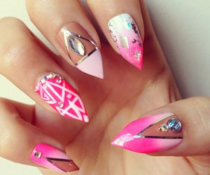 fashion, strass, and nails image