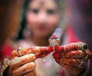 bride, red, and pakistani bride image