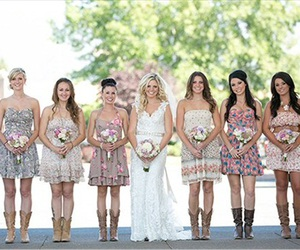 cowboy boots, fall, and wedding image