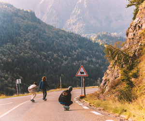 mountains, free, and longboard image