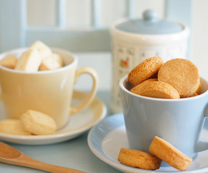 biscuits, mugs, and blue image