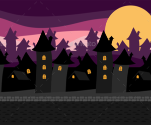 castle, Halloween, and vector illustrations image