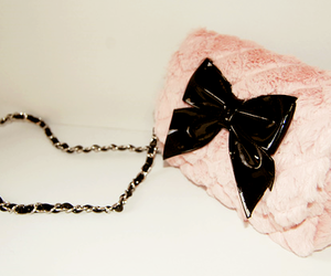 bag, pink, and bow image