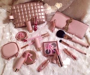makeup, pink, and rihanna image