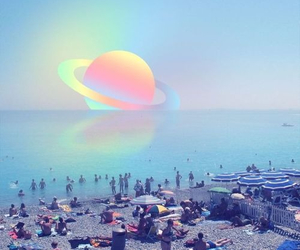 beach, planet, and space image