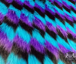 blue, furry, and purple image