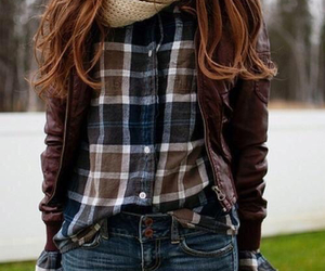 blouse, fall, and girl image