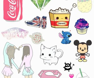 Collage, mickey, and cute image