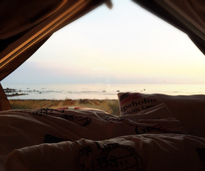 beach, beautiful, and bed image