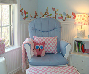 cute, chair, and owl image