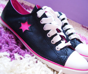 black, star, and converse image