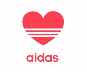 adidas, heart, and Logo image