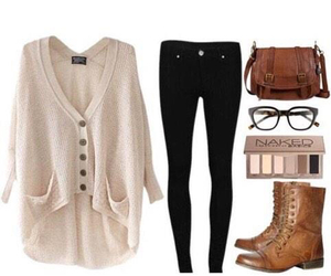 boots, cardigan, and girl image