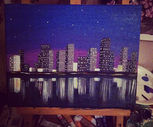 canvas, city, and lights image