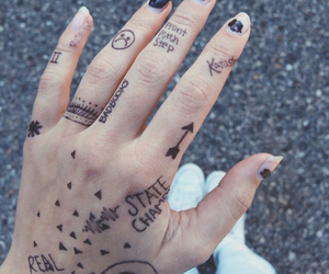 drawing, hand, and pretty image