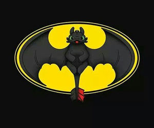 batman, toothless, and dragon image