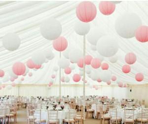 hanging lanterns, wedding decorating ideas, and wedding venue decoration image