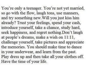 quote, life, and teenager image