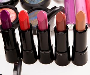 lipstick, mac, and beauty image