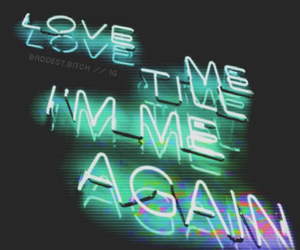 grunge, I Love You, and neon image