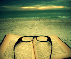 book, reading, and sea image