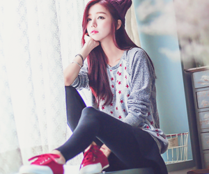 korean girl, style, and cute image