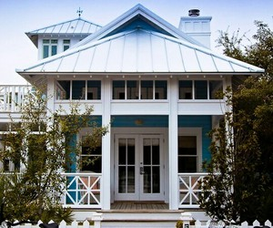 blue, beach cottage, and exterior image