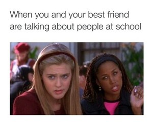 best friend, Clueless, and school image