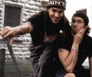anthony kiedis, chad smith, and red hot chili peppers image