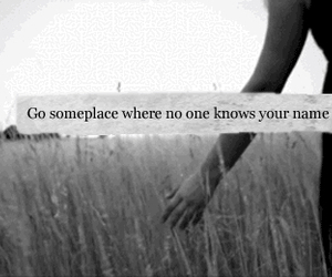 quote, name, and alone image