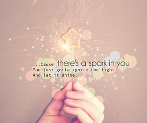 quote, sparks, and cute image