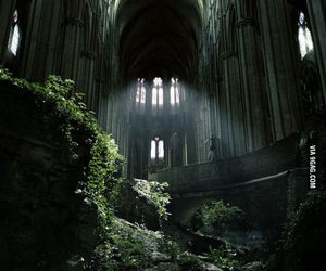 abandoned, french, and cathedral image
