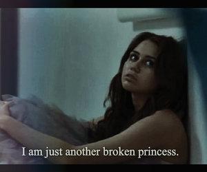 broken, princess, and sad image