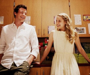 cory monteith, dianna agron, and finn hudson image