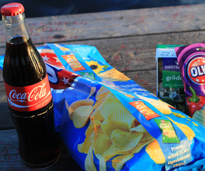 coca cola, food, and chips image