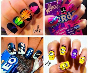 nails, beauty, and minions image
