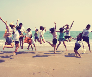 friends, beach, and amigos image