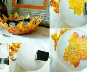 diy, leaves, and autumn image