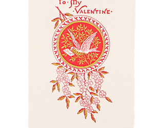 bird, valentine, and card image