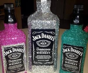 jack daniels, glitter, and drink image