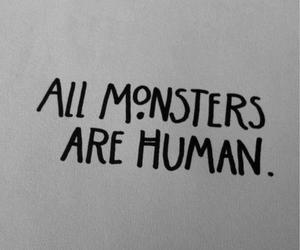 monster, human, and quotes image