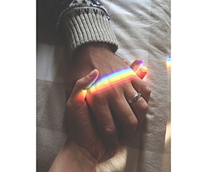 love, rainbow, and couple image