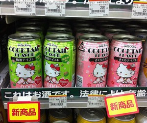 kawaii, drink, and hello kitty image