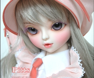doll, pink, and cute image